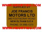 Joe Francis Motors Ltd Eltham Dealer Decals Transfers DDQ40